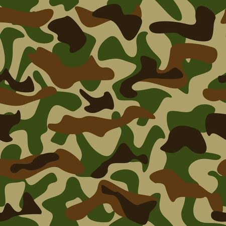 Seamless camouflage pattern green and brown colors Vector