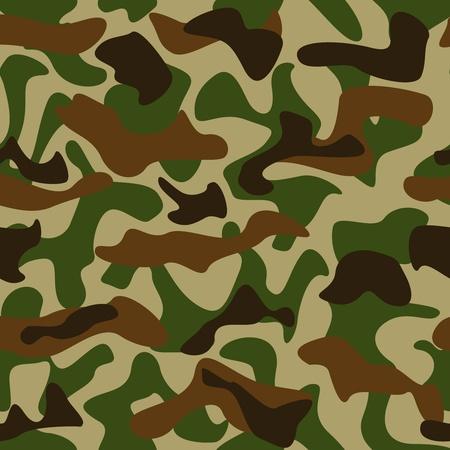 camouflage pattern: Seamless mimetici i colori verde e marrone, modello