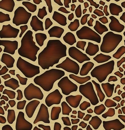 giraffe skin: Realistic seamless Giraffe skin pattern in yellow and brown