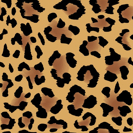 spotted fur: Seamless leopard skin pattern for cool background