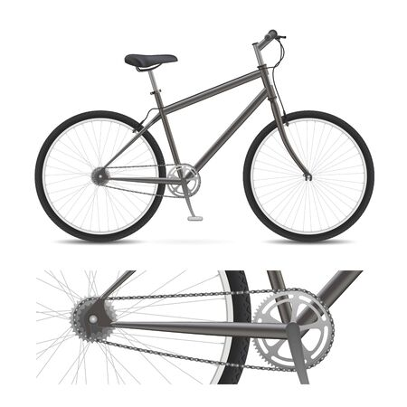gear  speed: Bicicletta con ruote, pedali, cambio catena, e pneumatici