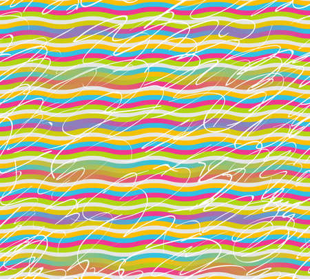 Seamless colorful stripes and strokes for wrappers and backgrounds Stock Vector - 12957616