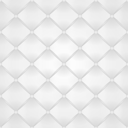 Seamless vector background from white leather with buttons Vector