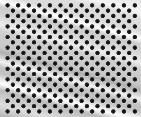 Background in form of aluminum sheet with holes Vector