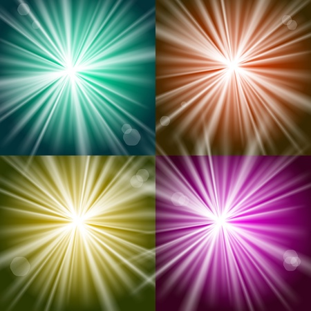 Vector Lights and Flashes on colorful backgrounds Stock Vector - 13441851