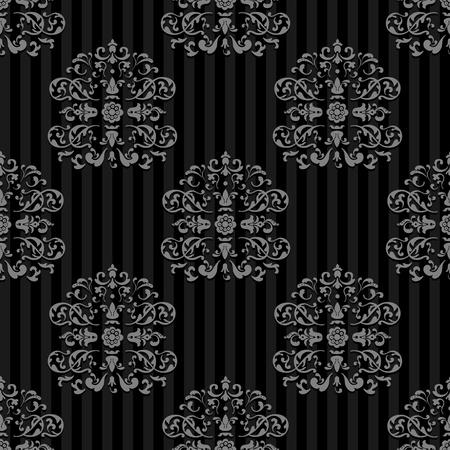 Seamless Vector Royal background  Gray strips on Dark Stock Vector - 13441844