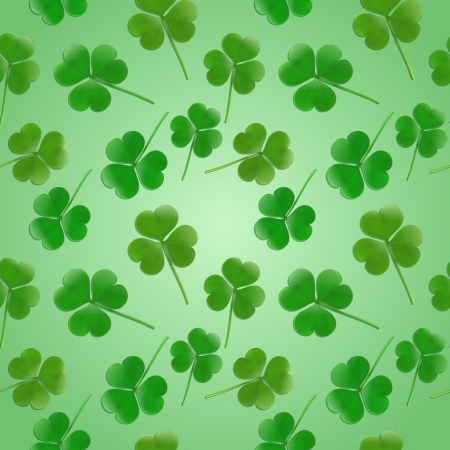 Seamless Health Bio background with clover leaves Vector