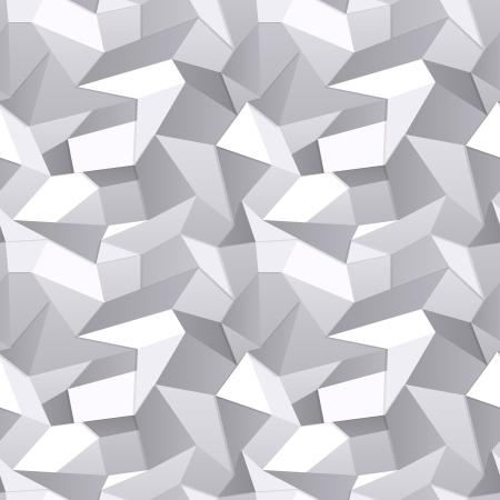 3d Seamless Crumpled paper abstract background Vector