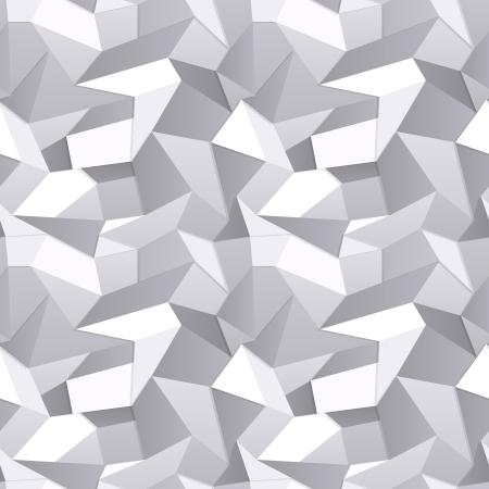 geometria: 3D sin fisuras de papel arrugado fondo abstracto