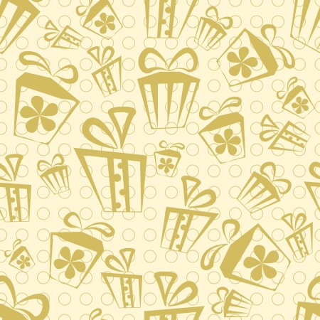 Seamless Gift Box background with ribbons and bows