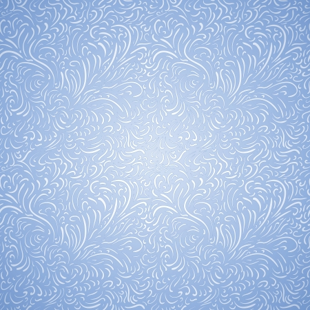 pretty Seamless frost decor background on blue Stock Vector - 13881863