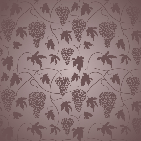 Elegant neo-classical design with leaves and grapes Vector