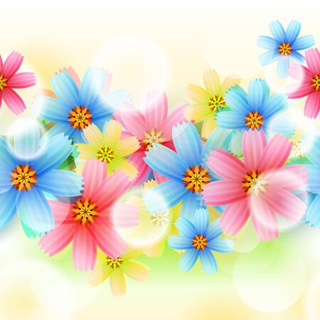 Vector Seamless Spring Flower Background Stock Vector - 14441317