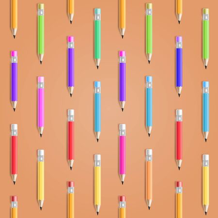 Vector Pencil Seamless Pattern  Education Background Stock Vector - 15158411
