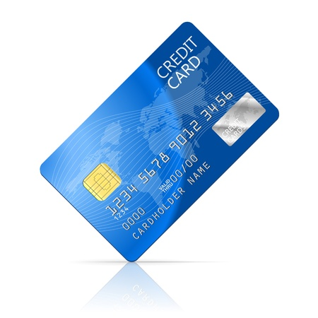 plastic card: Illustration Credit Card Icon Isolated on white