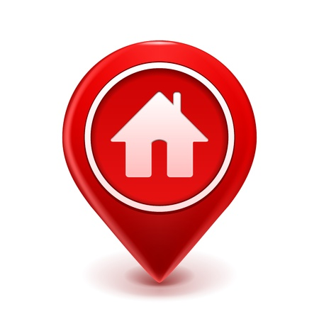 Home Icon Pin Deal illustration isolated on white Stock Vector - 15224974