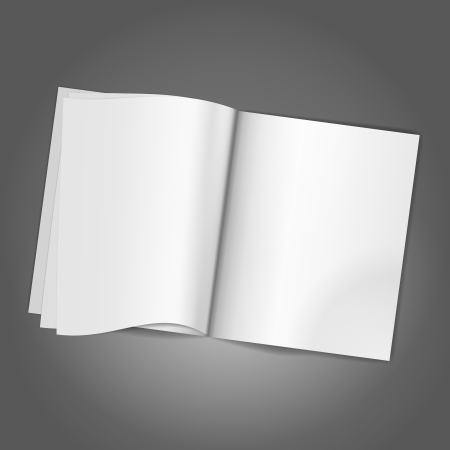 magazine page: Magazine Blank Page background template. Vector illustration