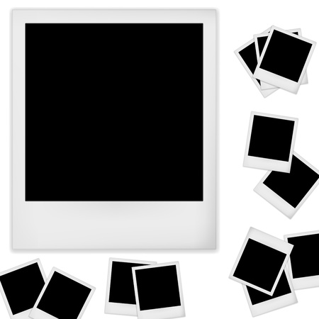 Polaroid photo frame isolated on white background. Vector illustration Vector