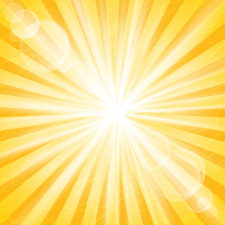 Abstract Sun Background Vector Illustration. Divergent rays and glare Stock Vector - 15300252