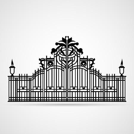 Graphical Ornamental Gate on white  Vector illustration Stock Vector - 15302631