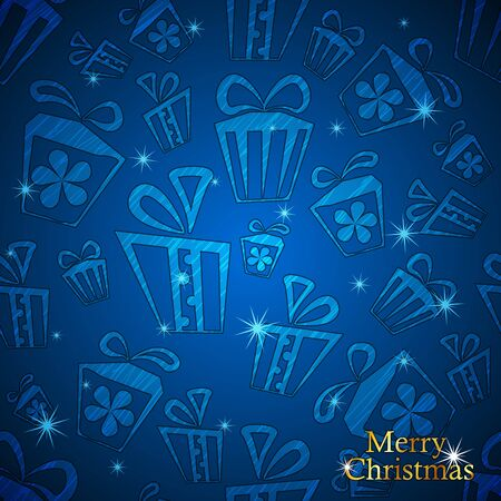 Christmas and New Year Gift background  Vector illustration Stock Vector - 15326919