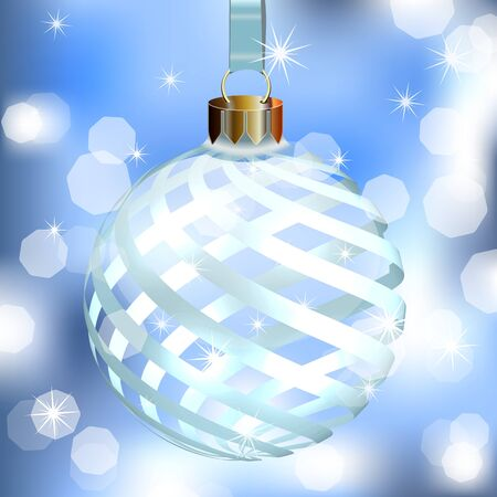 Abstract Background with Christmas Tree ball  Vector illustration Stock Vector - 15326923