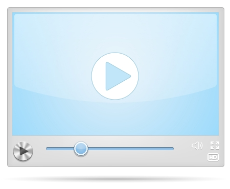 windows media video: New Cool Video Player skin illustration Illustration