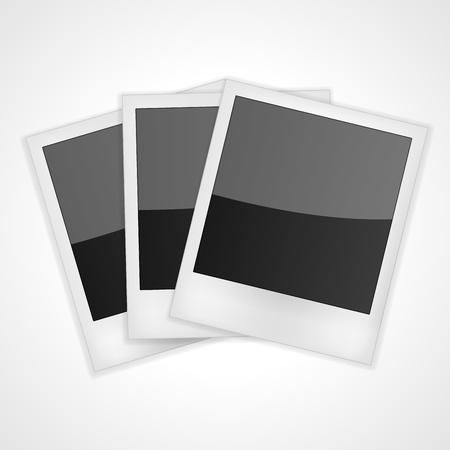 Shiny Polaroid Frames Isolated on white  Vector illustration Stock Vector - 15416885