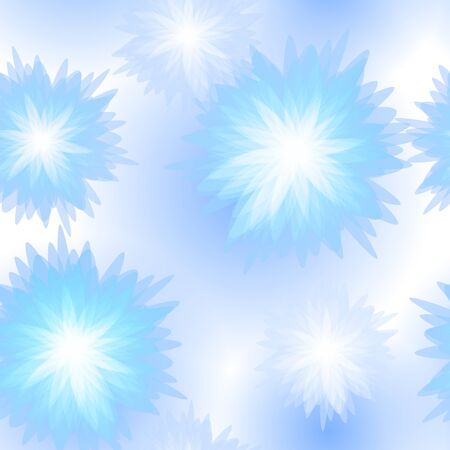 Winter seamless Blue floral pattern  Vector illustration Stock Vector - 15448645