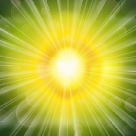 Stunning green glow radiating rays background  Vector illustration Stock Vector - 15559051