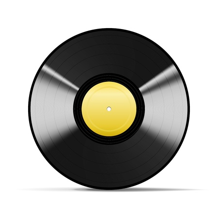 Wonderful Black Vinyl isolated on white Illustration