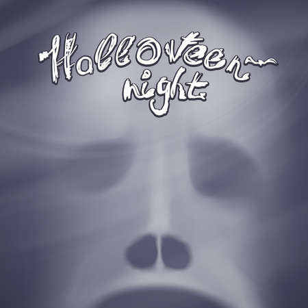 ghost face: Halloween Background with ghost face