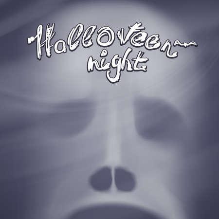 ghost face: Sfondo di Halloween con la faccia fantasma