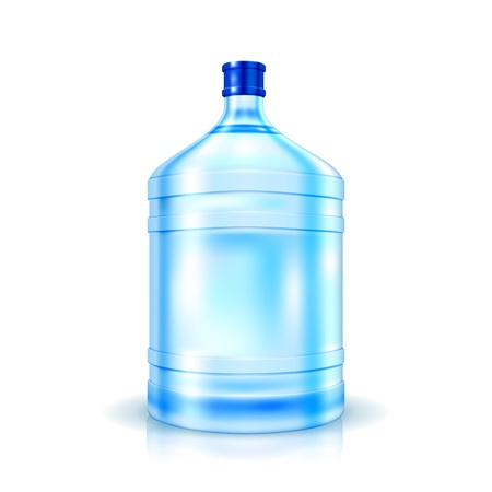 bottled water: Big Bottle of Water for cooler isolated on white  Illustration