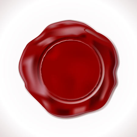 royal mail: Perfect Wax Seal Isolated on white Illustration