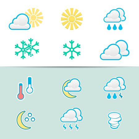 Elegant Weather Icons Stock Vector - 15756989
