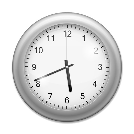 Realistic Wall Clock isolated on white Stock Vector - 15798592