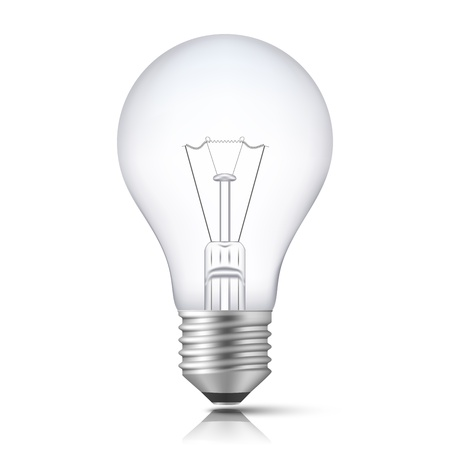 Realistic Light Bulb isolated on white. Illustration Stock Vector - 15857145