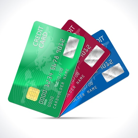 credit card payment: Credit Cards isolated on white  Illustration Illustration