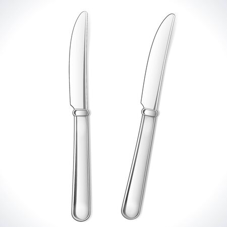 table knife: Coltello isolato su bianco illustrazione