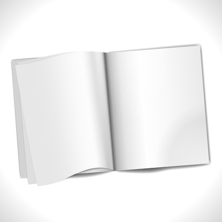 book open: Blank Page background isolated on white  Illustration Illustration