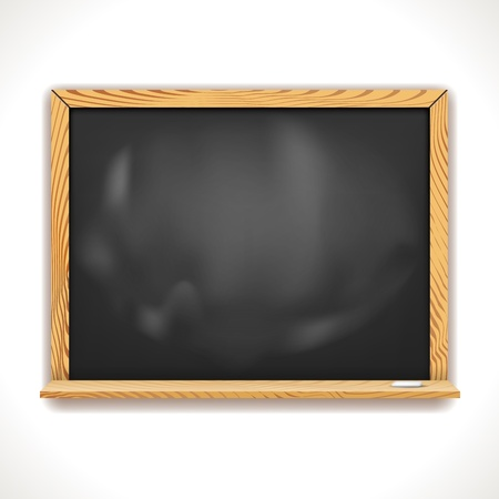 Black chalkboard in wooden frame isolated on white  Illustration Stock Vector - 16242571