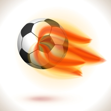 Fire Flaming Soccer Ball isolated on white  Illustration Stock Vector - 16242581