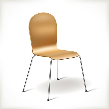easy chair: Kitchen Chair isolated on white  Illustration