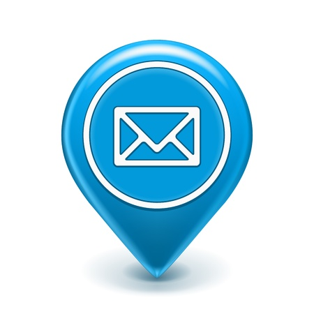 Email: Email Icon Map Pin auf wei�em Illustration isoliert Illustration