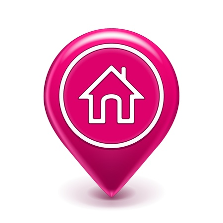 location: Home Map Location Icon isolated on white  Illustration Illustration