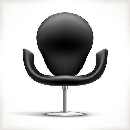 Leather Chair isolated on white Illustration Stock Vector - 16242636