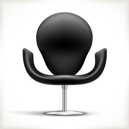 leather chair: Sedia in pelle isolato su bianco illustrazione Vettoriali