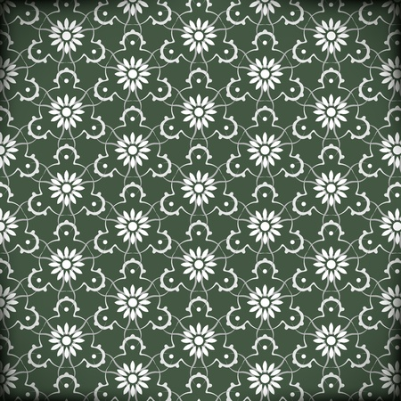 Vector Arabic Pattern Illustration  Seamless green with flowers Stock Vector - 16332405