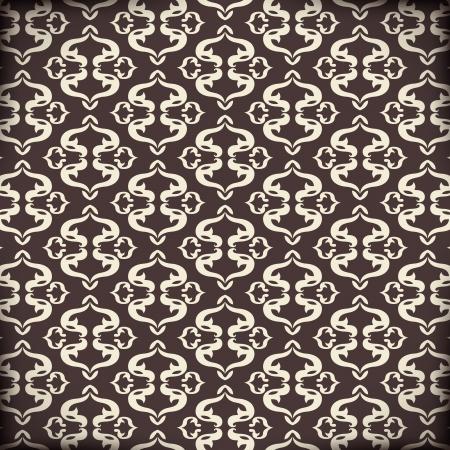 Arabic Pattern Illustration  Seamless dark with arabesques Stock Vector - 16332407